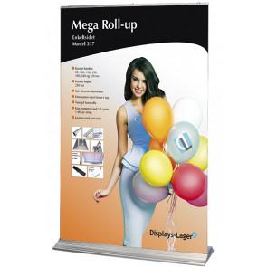 Mega Roll Up Enkeltsidet - 150x284cm Banner - Sølv