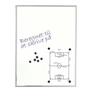 Skrivetavle - magnetisk whiteboard - 6xA4