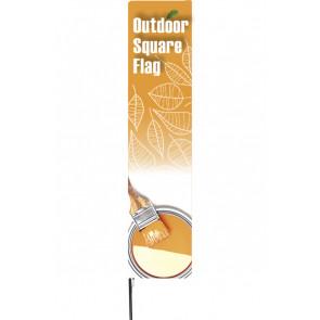 Stænger Til Udendørs Square Flag - Medium