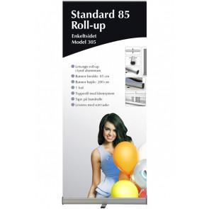 Standard Roll Up Enkeltsidet - 85x215cm Banner - Sølv