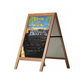 Blackboard gadeskilt i træ - 60x80cm