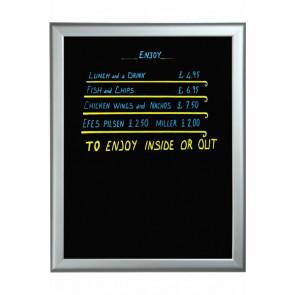 Blackboard med alu ramme - 60x80cm