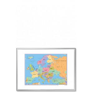 Whiteboard tavle med europakort - 103x73cm