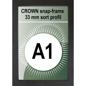 Crown Snapramme - 33mm Profil - (A1) 59.4x84.1cm - Sort