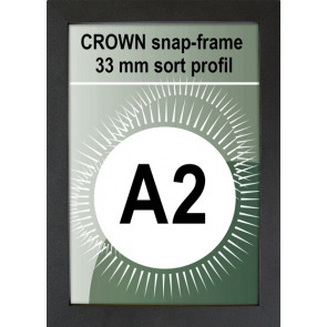 Crown Snapramme - 33mm Profil - (A2) 42x59.4cm - Sort