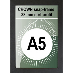 Crown Snapramme - 33mm Profil - (A5) 14.8x21cm - Sort