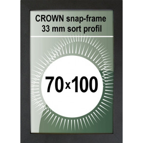 Crown Snapramme - 33mm Profil - (B1) 70x100cm - Sort