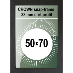 Crown Snapramme - 33mm Profil - (B2) 50x70cm - Sort