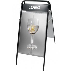 Expo Sign Gadeskilt - Med Logoplade - (B2) 50x70cm - Sort