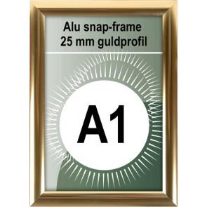 Klikramme - 25mm Profil - (A1) 59.4x84.1cm - Blank Guld