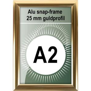 Klikramme - 25mm Profil - (A2) 42x54.9cm - Blank Guld