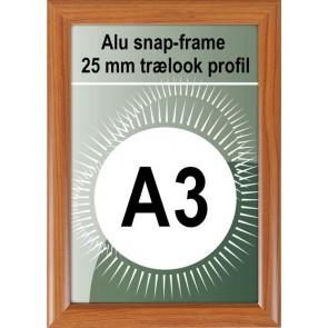 Klikramme - 25mm Profil - (A3) 29.7x42cm - Trælook