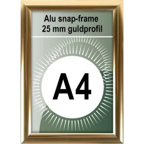 Klikramme - 25mm Profil - (A4) 21x29.7cm - Blank Guld