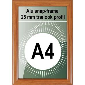 Klikramme - 25mm Profil - (A4) 21x29.7cm - Trælook