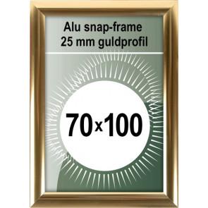 Klikramme - 25mm Profil - (B1) 70x100cm - Blank Guld