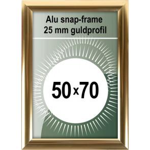 Klikramme - 25mm Profil - (B2) 50x70cm - Blank Guld