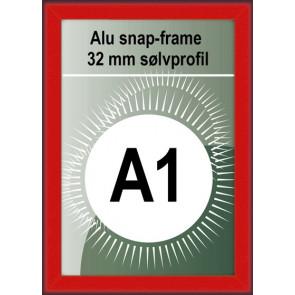 Klikramme - 32mm Profil - (A1) 59.4x84.1cm - Rød