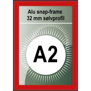 Klikramme - 32mm Profil - (A2) 42x59.4cm - Rød