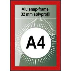 Klikramme - 32mm Profil - (A4) 21x29.7cm - Rød
