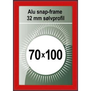 Klikramme - 32mm Profil - (B1) 70x100cm - Rød