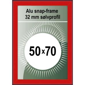 Klikramme - 32mm Profil - (B2) 50x70cm - Rød
