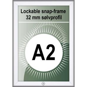 Klikramme Med Lås - 32mm Profil - (A2) 42x59.4cm - Alu