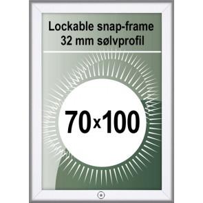 Klikramme Med Lås - 32mm Profil - (B1) 70x100cm - Alu