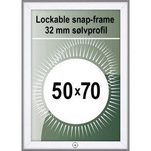 Klikramme Med Lås - 32mm Profil - (B2) 50x70cm - Alu