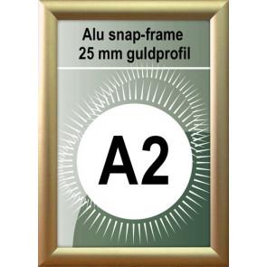 Klap Klap Billedramme - 25mm Profil - (A2) 42x59.4cm - Guld Mat