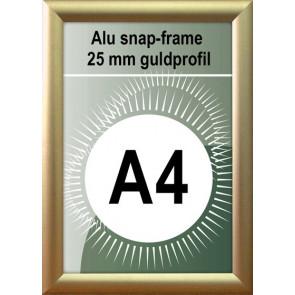 Klap Klap Billedramme - 25mm Profil - (A4) 21x29.7cm - Guld Mat