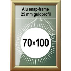 Klap Klap Billedramme - 25mm Profil - (B1) 70x100cm - Guld Mat