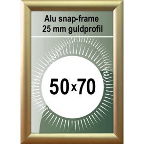 Klap Klap Billedramme - 25mm Profil - (B2) 50x70cm - Guld Mat