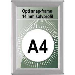 Opti Snapramme - 14mm Profil - (A4) - 21x29.7cm - Sølv