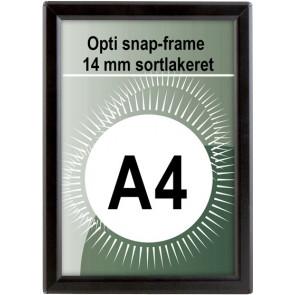 Opti Snapramme - 14mm Profil - (A4) - 21x29.7cm - Sort