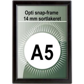 Opti Snapramme - 14mm Profil - (A5) - 14.8x21cm - Sort