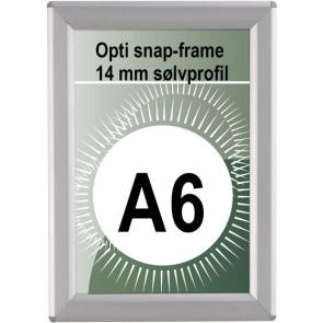 Opti Snapramme - 14mm Profil - (A6) - 10.5x14.8cm - Sølv