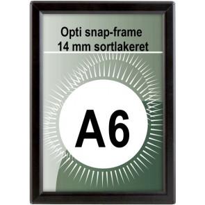 Opti Snapramme - 14mm Profil - (A6) - 10.5x14.8cm - Sort