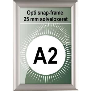 Opti Snapramme - 25mm Profil - (A2) - 42x59.4cm - Sølv