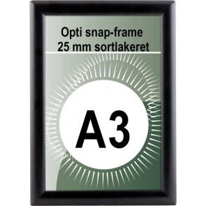 Opti Snapramme - 25mm Profil - (A3) - 29.7x42cm - Sort