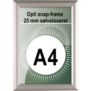 Opti Snapramme - 25mm Profil - (A4) - 21x29.7cm - Sølv