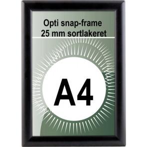 Opti Snapramme - 25mm Profil - (A4) - 21x29.7cm - Sort