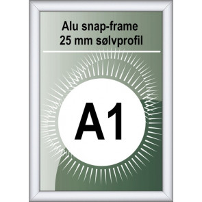 Security Snapramme - 25mm Profil - (A1) 59.4x84.1cm - Alu