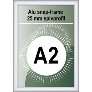 Security Snapramme - 25mm Profil - (A2) 42x59.4cm - Alu