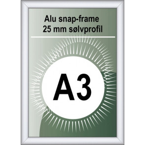 Security Snapramme - 25mm Profil - (A3) 29.7x42cm - Alu