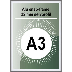 Security Snapramme - 32mm Profil - (A3) 29.7x42cm - Alu