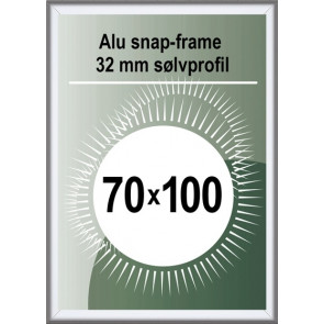 Security Snapramme - 32mm Profil - (B1) 70x100cm - Alu
