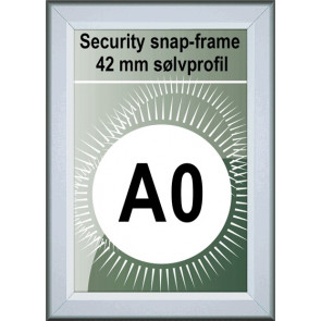 Security Snapramme - 42mm Profil - (A0) 84.1x118.9cm - Alu