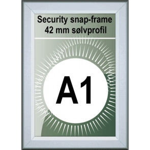 Security Snapramme - 42mm Profil - (A1) 59.4x84.1cm - Alu