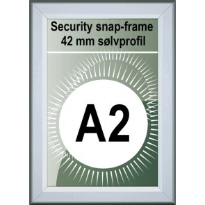 Security Snapramme - 42mm Profil - (A2) 42x59.4cm - Alu
