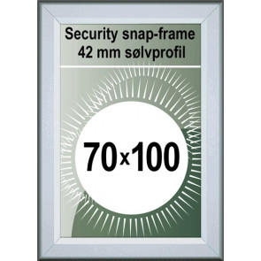 Security Snapramme - 42mm Profil - (B1) 70x100cm - Alu